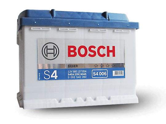 Автомобильный аккумулятор АКБ BOSCH (БОШ) S4 006 / 560 127 054 S4 Silver 60Ач п.п.