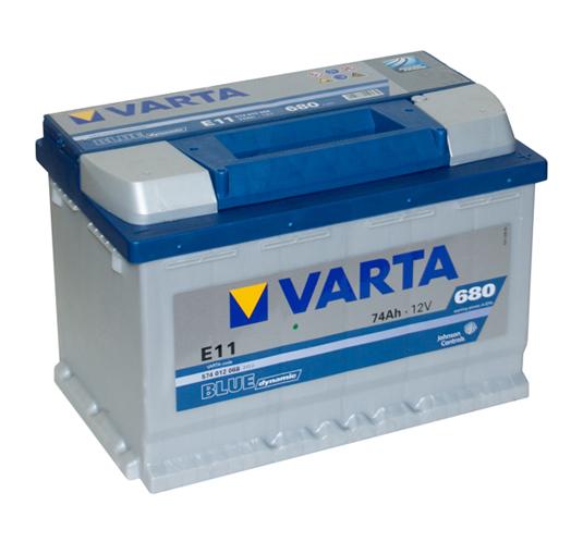 Автомобильный аккумулятор АКБ VARTA (ВАРТА) Blue Dynamic 574 012 068 E11 74Ач ОП