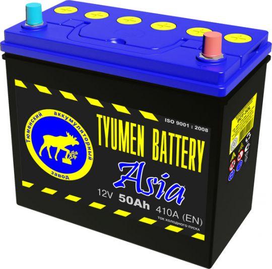 Автомобильный аккумулятор АКБ Тюмень (TYUMEN BATTERY) ASIA 6CT-50L 50Aч П.П.