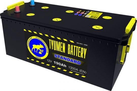 Автомобильный аккумулятор АКБ Тюмень (TYUMEN BATTERY) STANDARD  6CT-190L 190Aч О.П. (3) (евро) (сухозаряженный)