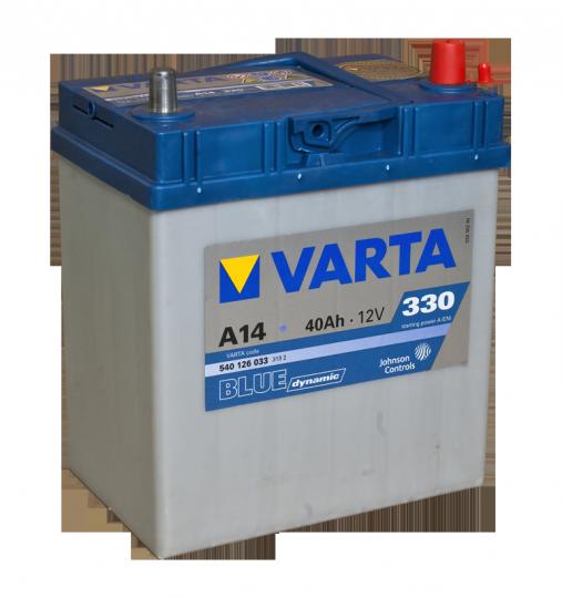Автомобильный аккумулятор АКБ VARTA (ВАРТА) Blue Dynamic 540 126 033 A14 40Ач тонкие клеммы ОП
