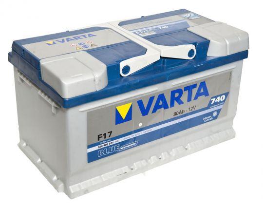 Автомобильный аккумулятор АКБ VARTA (ВАРТА) Blue Dynamic 580 406 074 F17 80Ач ОП