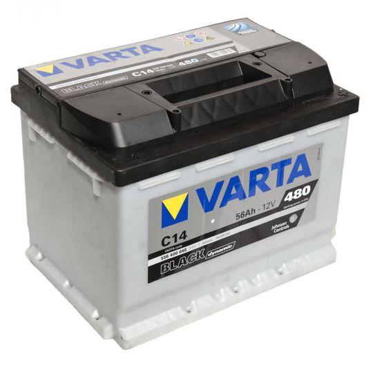 Автомобильный аккумулятор АКБ VARTA (ВАРТА) Black Dynamic 556 400 048 C14 56Ач ОП