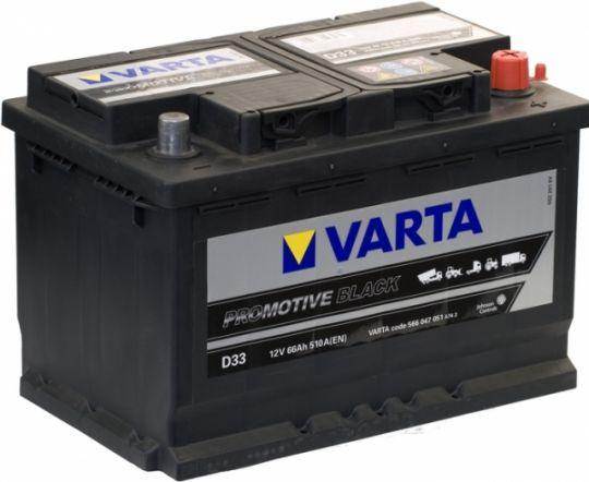 Автомобильный аккумулятор АКБ VARTA (ВАРТА) Promotive Black 566 047 051 D33 66Ач ОП