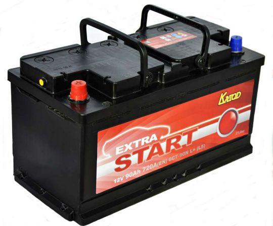 Автомобильный аккумулятор АКБ Extra START (Экстра Старт) 6CT-90 90Ач п.п.