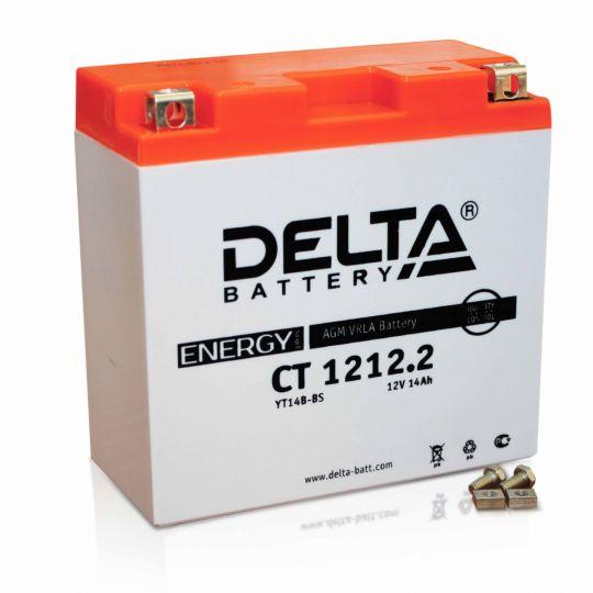 Мото аккумулятор АКБ Delta (Дельта) CT 1212.2 п.п.YT14B-BS
