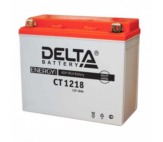 Мото аккумулятор АКБ Delta (Дельта) CT 1218 п.п. YTX20-BS, YTX20H, YB16-B-CX