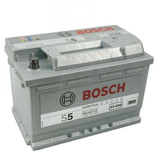 Автомобильный аккумулятор АКБ BOSCH (БОШ) S5 008 / 577 400 078 77Ач о.п.