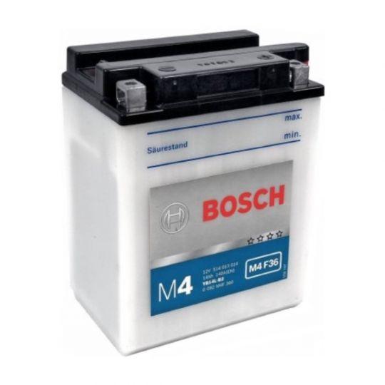 Мото аккумулятор АКБ BOSCH (БОШ) M4F 360 / M4 F36 moba 12V 514 013 014 A504 FP 14Ач о.п. (YB14L-B2)