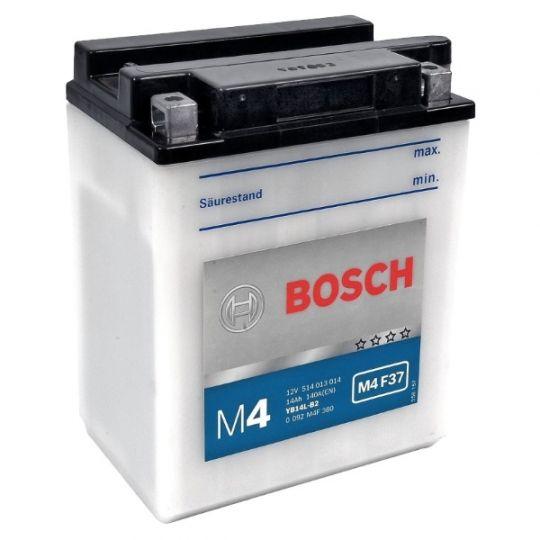 Мото аккумулятор АКБ BOSCH (БОШ) M4F 370 / M4 F37 moba 12V 514 014 014 A504 FP 14Ач п.п. (YB14-B2)