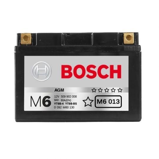 Мото аккумулятор АКБ BOSCH (БОШ) M60 130 / M6 013 moba 12V 509 902 008 A504 AGM 8Ач п.п. (YT9B-4, YT9B-BS)