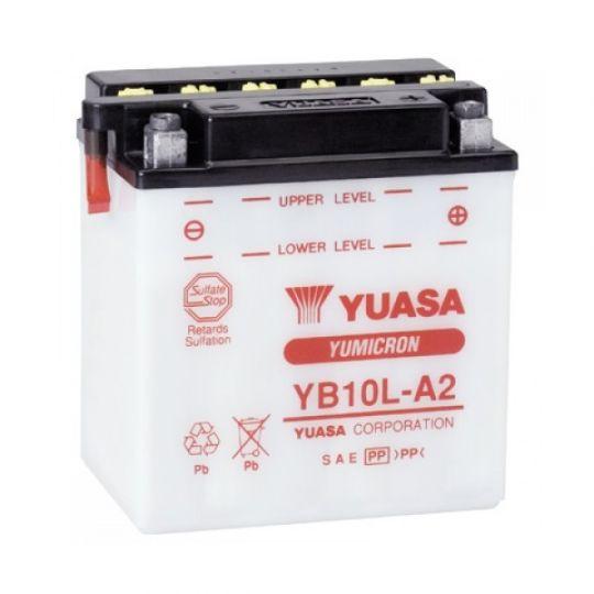 Мото аккумулятор АКБ YUASA (Юаса) YB10L-A2 11Ач о.п.