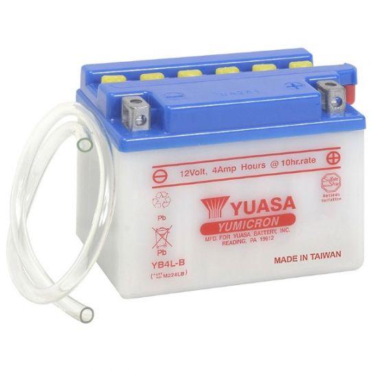 Мото аккумулятор АКБ YUASA (Юаса) YB5L-B с электролитом 5Ач о.п.