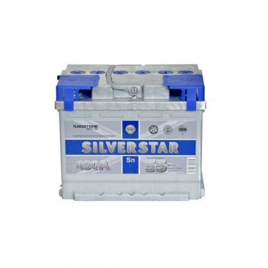 Автомобильный аккумулятор АКБ SilverStar (Сильвер Стар) 6СТ-55 L 55Ач п.п.