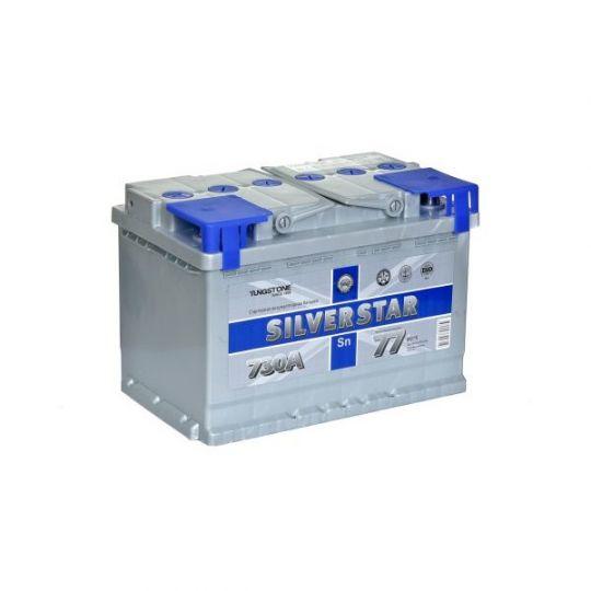 Автомобильный аккумулятор АКБ SilverStar (Сильвер Стар) 6СТ-77 L 77Ач п.п.