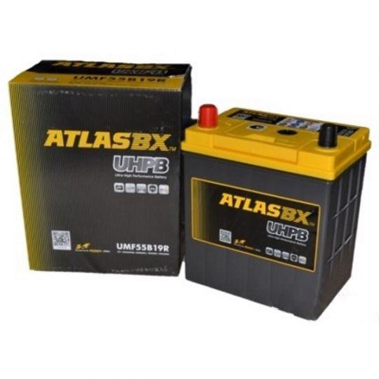 Автомобильный аккумулятор АКБ ATLAS (Атлас) UHPB UMF55B19L 45Ач о.п.