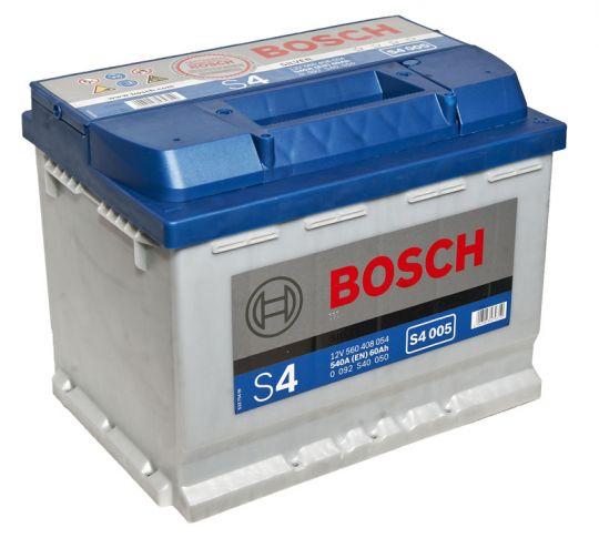 Автомобильный аккумулятор АКБ BOSCH (БОШ) S4 005 / 560 408 054 S4 Silver 60Ач о.п.