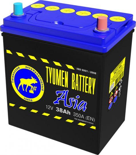 Автомобильный аккумулятор АКБ Тюмень (TYUMEN BATTERY) ASIA 6СТ-38L 38Aч П.П.