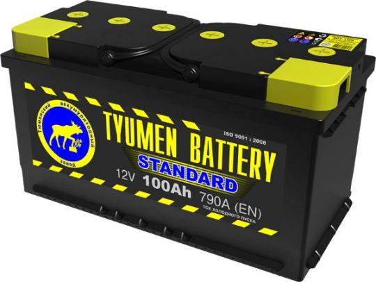 Автомобильный аккумулятор АКБ Тюмень (TYUMEN BATTERY) STANDARD  6CT-100L 100Aч П.П.