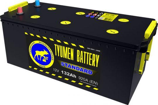 Автомобильный аккумулятор АКБ Тюмень (TYUMEN BATTERY) STANDARD  6CT-132L 132Aч П.П. (4) (росс.) (сухозаряженный)
