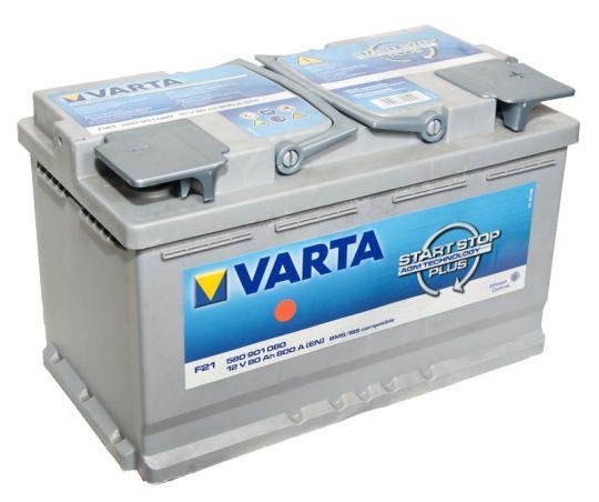 Автомобильный аккумулятор АКБ VARTA (ВАРТА) Start-Stop Plus Silver Dynamic AGM 580 901 080 F21 80Ач ОП