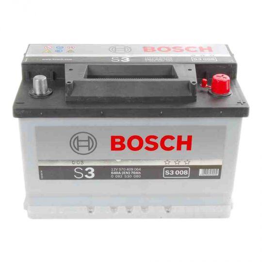Автомобильный аккумулятор АКБ BOSCH (БОШ) S3 008 / 570 409 064 S3 70Ач о.п.