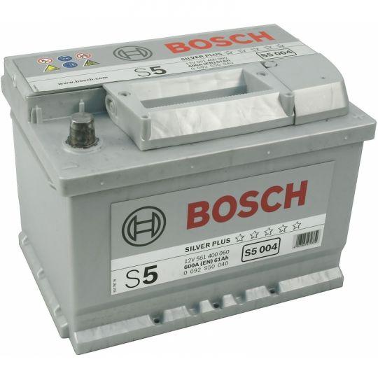 Автомобильный аккумулятор АКБ BOSCH (БОШ) S5 004 / 561 400 060 61Ач о.п. (низк.)