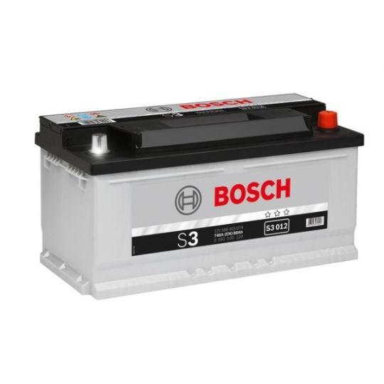 Автомобильный аккумулятор АКБ BOSCH (БОШ) S3 012 / 588 403 074 S3 88Ач о.п.