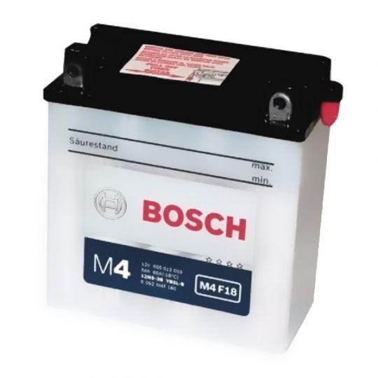 Мото аккумулятор АКБ BOSCH (БОШ) M4F 180 / M4 F18 moba  12V 505 012 003 A504 FP 5Ач о.п. (12N5-3B, YB5L-B)