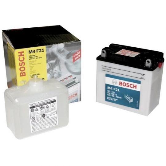 Мото аккумулятор АКБ BOSCH (БОШ) M4F 210 / M4 F21 moba 12V 507 012 004 A504 FP 7Ач о.п. (12N7-3B, YB7L-B)