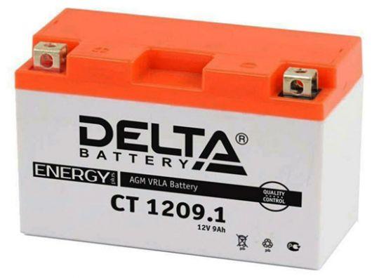 Мото аккумулятор АКБ Delta (Дельта) CT 1209.1 п.п