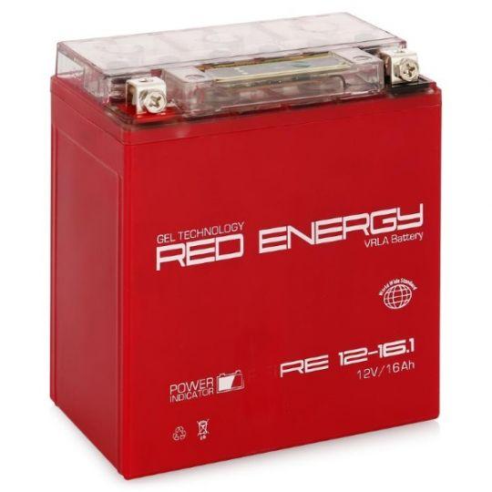Аккумуляторная батарея АКБ RED ENERGY (РЭД ЭНЕРДЖИ) GEL RE 1216.1 YTX16-BS, YB16B-A 16Ач п.п.