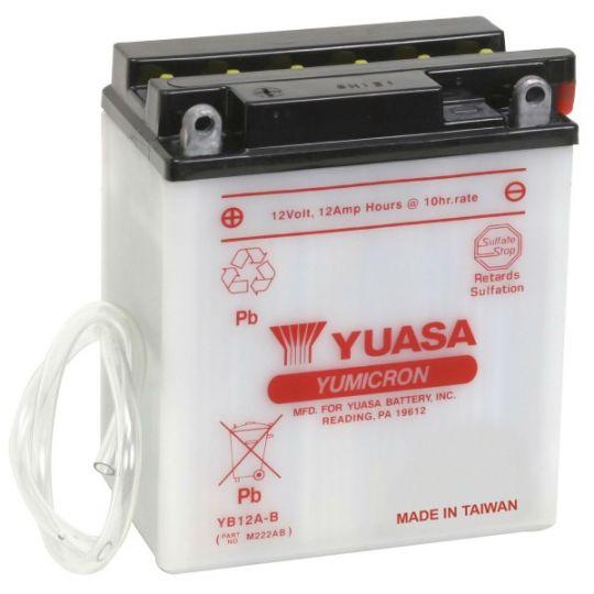 Мото аккумулятор АКБ YUASA (Юаса) YB12A-B 12Ач п.п.