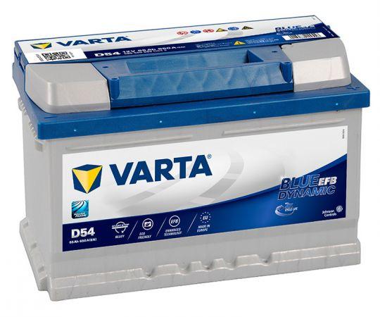 Автомобильный аккумулятор АКБ VARTA (ВАРТА) Blue Dynamic EFB 565 500 065 D54 65Ач О.П.